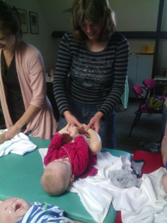 Babymassage in groepsverband